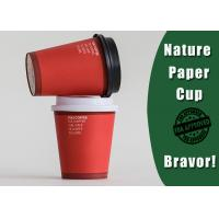 Buy cheap Fashional Style Personalized Paper Cups For BusinessRed / White Color 8 Ounces from wholesalers