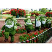 Wholesale Fancy Fairy Tale Character Artificial Snow White and Seven Drwafs Topiary Scltures Crafts from china suppliers