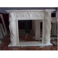 Carved stone figure statue fireplace,decorative indoor stone fireplace,fireplace statue Manufactures