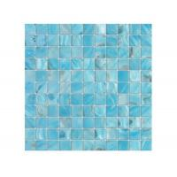 Buy cheap Beautiful Blue Shell Mosaic Tile 12 X 12 Gap Mesh For Swimming Pool from wholesalers