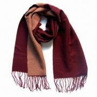 Buy cheap 100% Men's Cashmere Scarf, Measures 165 x 50cm, Customized Designs are Accepted from wholesalers