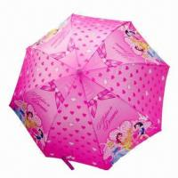 Buy cheap Children's Umbrella with Plastic Crook Handle, Various Sizes Designs and Colors are Available from wholesalers