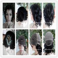 Buy cheap Human hair full lace wig 10-26L 4#/1b#color curly indian remy hair,120%-180% density from wholesalers