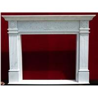 Buy cheap High Quality Carved Indoor Decorative White Marble Fireplace Beautiful cheap elegant natural indoor marble fireplace from wholesalers