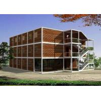 Buy cheap Maroon Three Stories Container House Prefabricated Environmentally Friendly from wholesalers