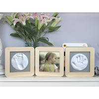 Buy cheap 3 Vertical Wooden Photo Frames Solid Wooden Baby Hand And Footprint Keepsake Kit from wholesalers