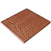 Buy cheap Perforated Theater Wooden Acoustic Panel Anti-fire Sound Absorption from wholesalers