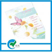 Buy cheap Customized Size Greeting Card Stock Paper Offset Printing with Flower Printed from wholesalers