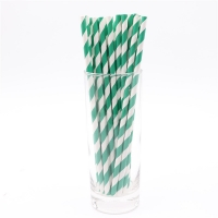 Buy cheap Party Supplies Green And White Holiday Disposable Paper Straws from wholesalers