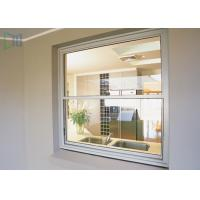Buy cheap American Style Vertical Sliding Glass Window , Residential White Aluminium Windows from wholesalers