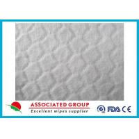 Anti Static White Spunlace Nonwoven Fabric For Wet Wipes , Customzied size Manufactures