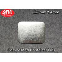 Buy cheap Paper / Aluminium Foil Container Lid 60-120 Micron Thickness FDA Certificated from wholesalers
