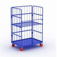 Buy cheap Metal Steel Roll Container Roll Trolley Pneumatic Wheel 200kg Load Capacity from wholesalers
