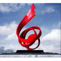Buy cheap Modern Abstract Metal Outdoor Art Sculpture Painted Red Finishing For Public Decor from wholesalers