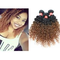 Highlighted Deep Curly Wavy Ombre Hair Extensions For Black Women