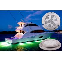 IP68 Waterproof Boat Underwater LED Lights Blutooth Control 27W Marine Lights Manufactures