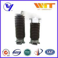 Lightning Protection Electric Porcelain Surge Arrester With Insulating Bracket , Single Phase Manufactures