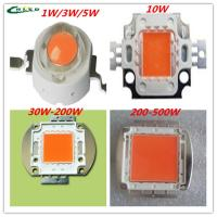 Buy cheap led grow Chip 11W/3W/5W/10W/30W/50W/100W/200W full spectrum 380nm~840nmfor hydroponics/greenhous Simulated sunlight red from wholesalers