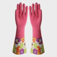 Buy cheap Lady Extra Long Sleeve Rubber Gloves Water Resistant For Daily Life from wholesalers