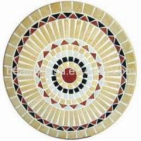 Wholesale Meige Red Black Marble Mosaic Medallion 48 from china suppliers