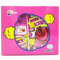 Wholesale Sweet candy Rose Shaped Lollipops With Fluorescence Stick And Popping Candy from china suppliers