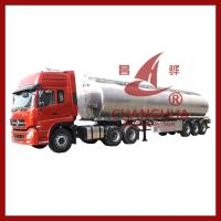 Buy cheap Tri axles carbon steel or aluminium fuel tanker trailer with different compartments oil from wholesalers