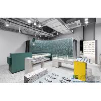 Buy cheap Vigorous Eyeglass store interior design made by Green color painting display cabinets and Marble counters from wholesalers