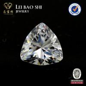 China 3A/5A Grade(Korean machine cut) White 8mm trillion cut faceted gem stone Cubic Zirconia Stone on sale