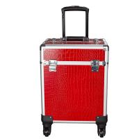 Buy cheap 4 Retractable Trays & 1 Smooth Sliding Large Capacity Makeup Train Case from wholesalers