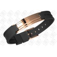 Wholesale 18K Rose Gold Stainless Steel Bracelets With Ionized , Magnetic Therapy Bracelet from china suppliers