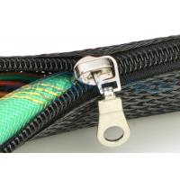Buy cheap PET Nylon Material Zipper Cable Sleeve Braided Wrap Customized Size Good Harness from wholesalers