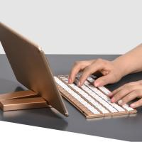 Wholesale Single Item Folding Bluetooth Keyboard 180mAh Li - Ion Battery With Stand Holder from china suppliers