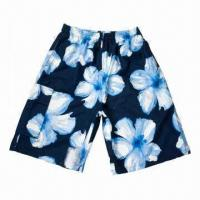 Buy cheap Men's Boardshorts/Bermuda Shorts, Made of 100% Polyester with All Printed Microfiber, Azo-free from wholesalers