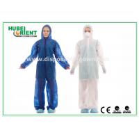 Wholesale Waterproof Disposable Coveralls with Hood , Nonwoven Breathable Stripping from china suppliers