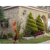 Buy cheap Twist Leaf Sculpture Corten Steel Material For Yard Decor , OEM Or ODM Design from wholesalers