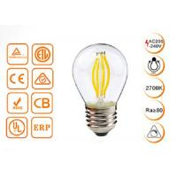 Buy cheap 4W G45 Dimmable Filament Decorative LED Bulbs With Golden / Clear Glass from wholesalers