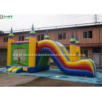 Wholesale 5 In 1 Inflatable Bounce House With Slide , Outdoor Commercial Jumping Castles from china suppliers