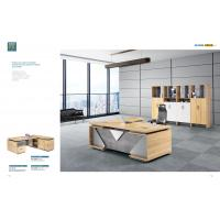 Buy cheap Commercial Office Furniture ,Office Executive Desk With Filing Cabinet And HPL from wholesalers
