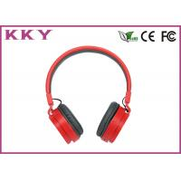 China ABS / PC Material Noise Cancelling Bluetooth Headset Red Color Supports AVRCP on sale