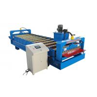 Buy cheap Trapezoidal Roof Wall Panel Roll Forming Machine Sheet Metal Roll Former Touch Screen from wholesalers