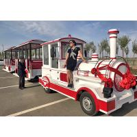 Buy cheap Theme Park Roundhouse Trackless Trains 72 Sets Diesel Road Train Steering System from wholesalers