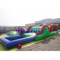 Buy cheap Customized Inflatable Water Parks Obstacle / Inflatable Water Slide With Pool from wholesalers