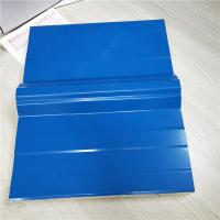 Buy cheap overlap blue 50mm silver paper eps sandwich roof panel for storage units prefab house from wholesalers