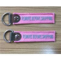 Buy cheap Remove Before Shopping Fabric Embroidery Key Chain 8 x 2cm 100pcs lot from wholesalers