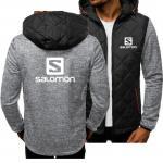 Buy cheap casual coat Autumn Winter fashion hoodies men Sweatshirts Salomon printed spliced Long sleeve Casual Coat jacket from wholesalers