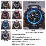 Buy cheap Men Fashion  Date Alarm Waterproof Sports Digital Gift Quartz Gents Wrist Watch from wholesalers