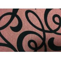 Buy cheap Upholstery Flocked Home Textile Fabric Flocked Taffeta Fabric from wholesalers