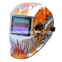 Buy cheap CE Welding Helmets Silver Skull Design with Auto darkening Filter from wholesalers