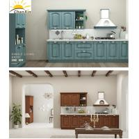 Buy cheap Eco - Friendly All Wood Kitchen Cabinets , Jane Overall Wooden European Kitchen Cabinets from wholesalers