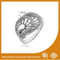 Wholesale Zinc Alloy High Fashionable Jewellery Rings With White Zircon from china suppliers